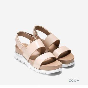 Cole Haan ZeroGrand Leather Platform Slide Sandal